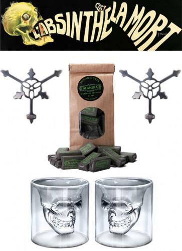Skull Glass Set